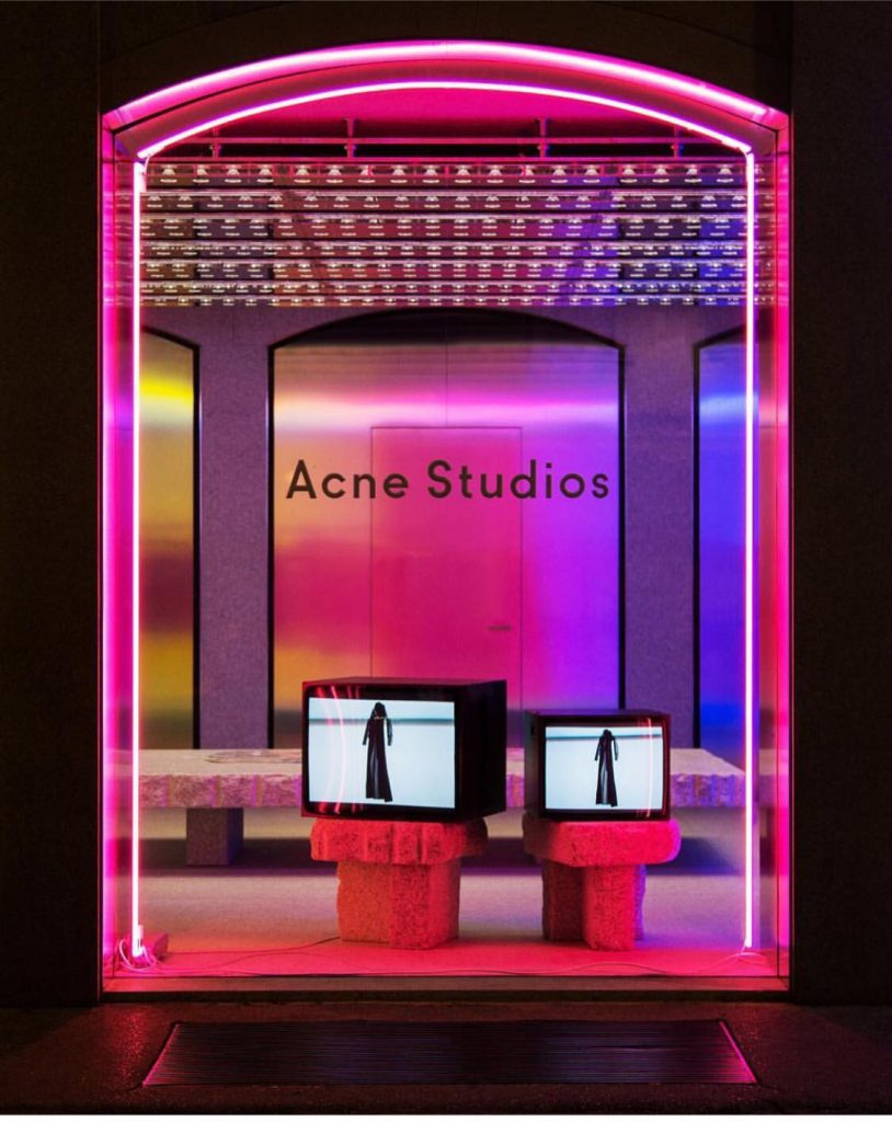 Neon acne studios neon art