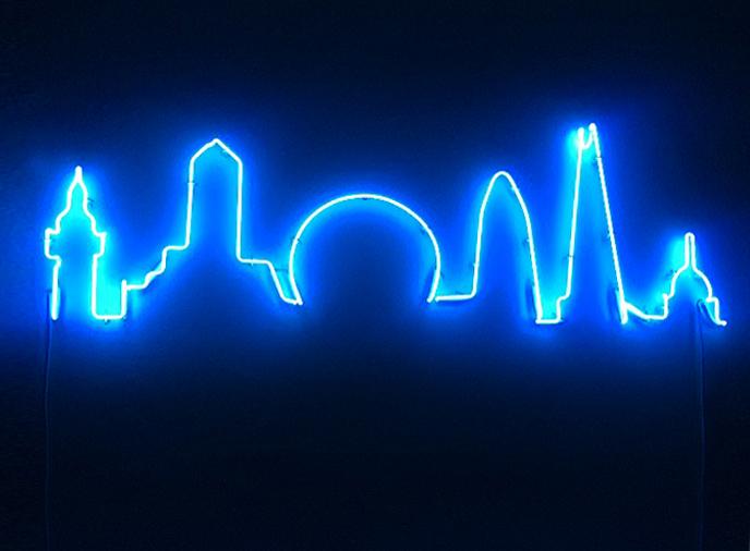skyline sign neon - photo #13