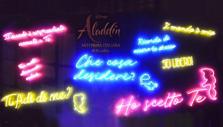 scritte al neon per eventi